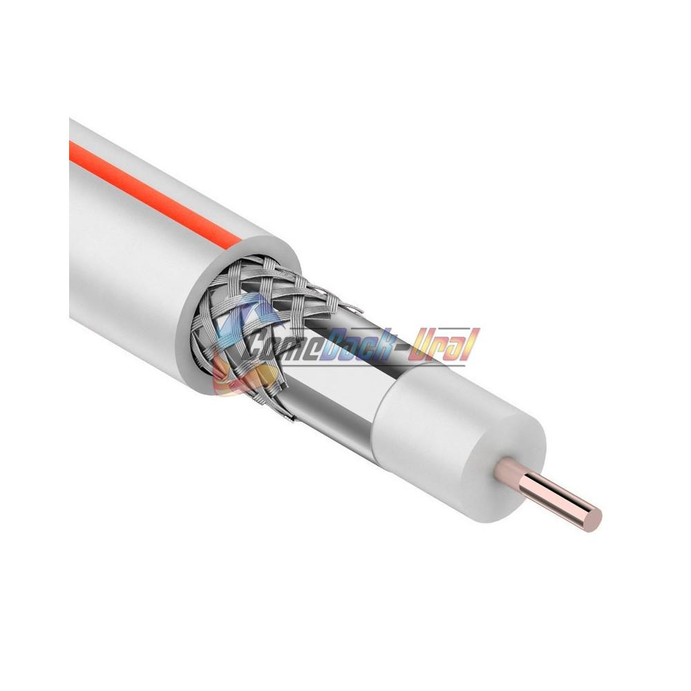 Кабель SAT 50 M, CCS/Al/Al, (75%), 75 Ом, 100м., белый PROCONNECT