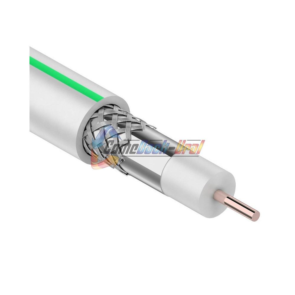 Кабель SAT 703 B, CCS/Al/Al, (75%), 75 Ом, 100м., белый PROCONNECT