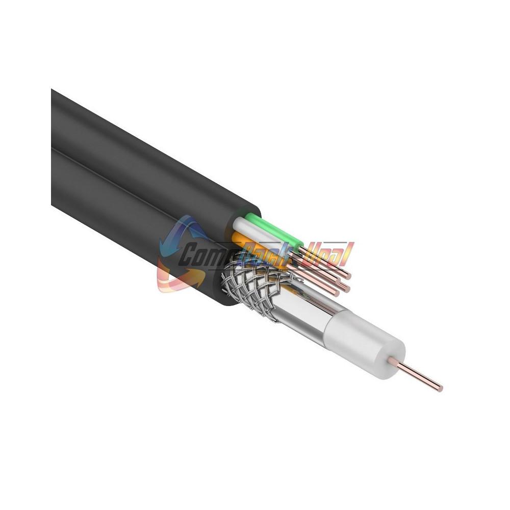Кабель для видеонаблюдения ККСВ-П + 4х0.5мм., 100м., черный REXANT