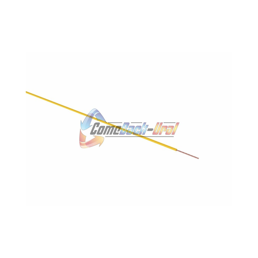 Провод ПГВА 1 х 0.50мм², 100м, ЖЕЛТЫЙ REXANT