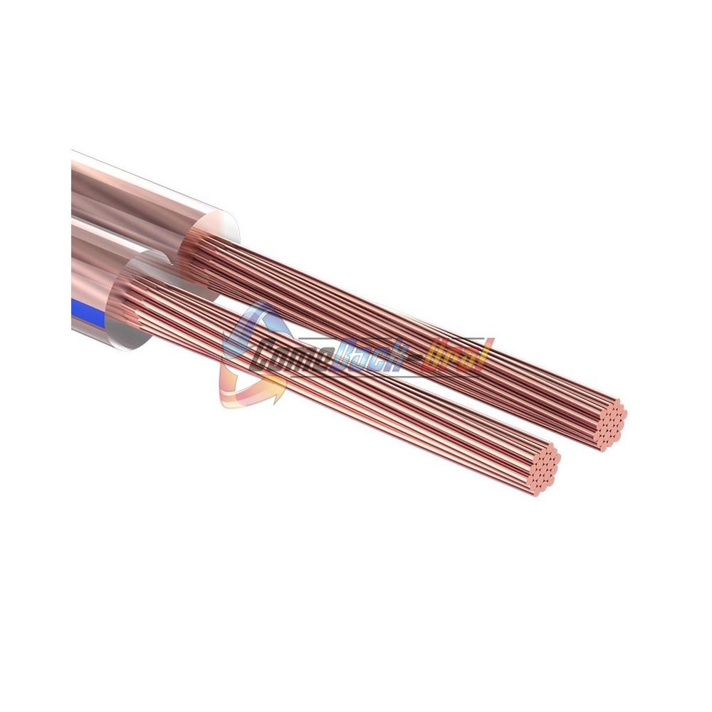 Кабель акустический, 2х2.00 мм², прозрачный BLUELINE, 100 м. REXANT
