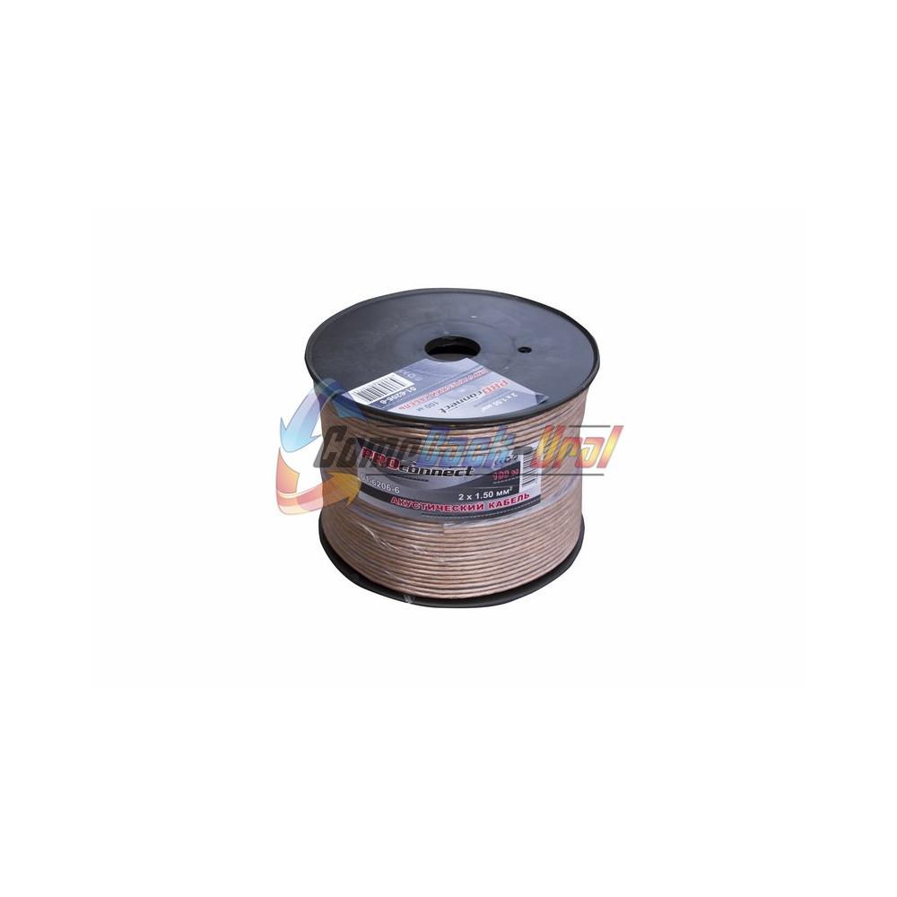 Кабель акустический, 2х1.50 мм², прозрачный BLUELINE, 100 м. PROCONNECT