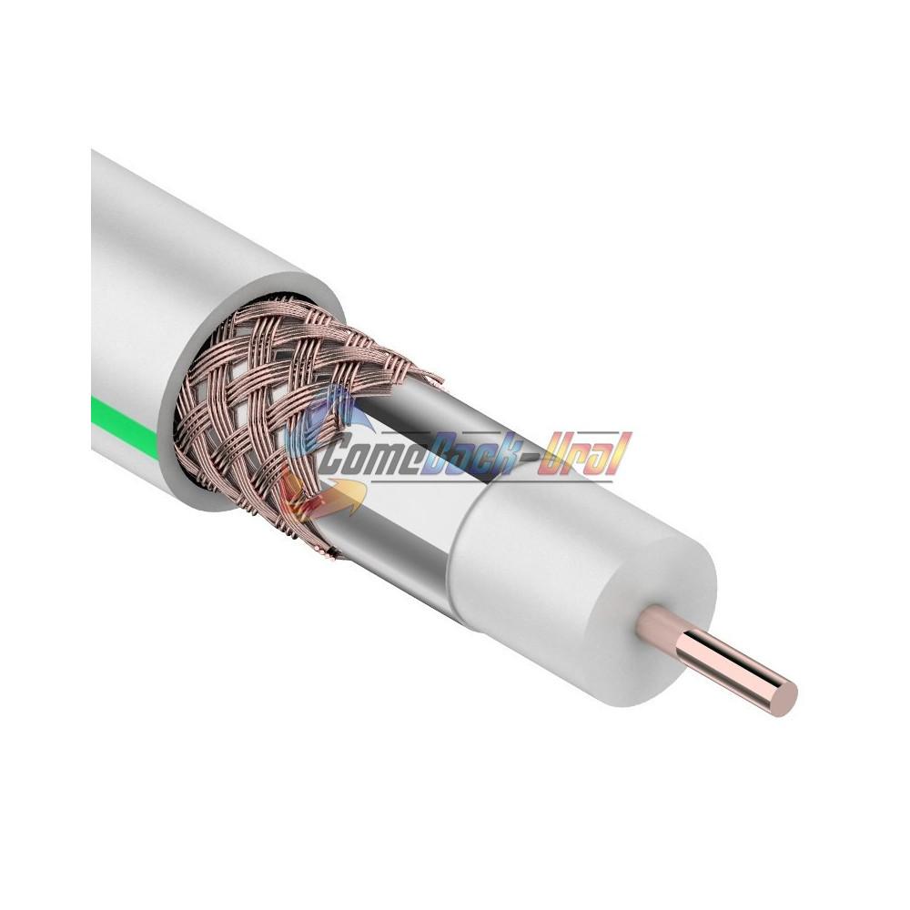 Кабель SAT 703 B, Cu/Al/Cu, (64%), 75 Ом, 100м., белый PROCONNECT