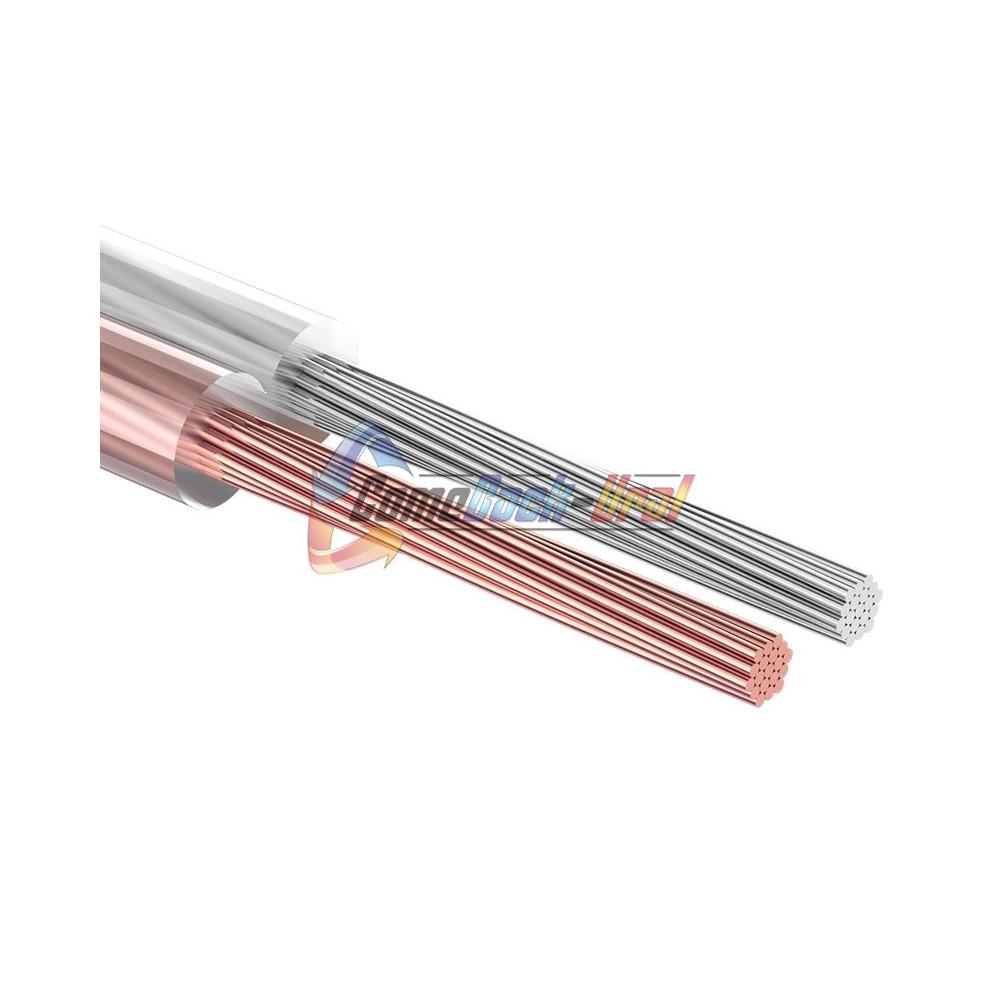 Кабель акустический, 2х0.50 мм², прозрачный SILICON, 100 м. REXANT