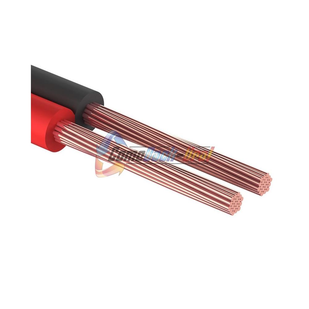 Кабель акустический, 2х0.75 мм², красно-черный, 100 м. REXANT