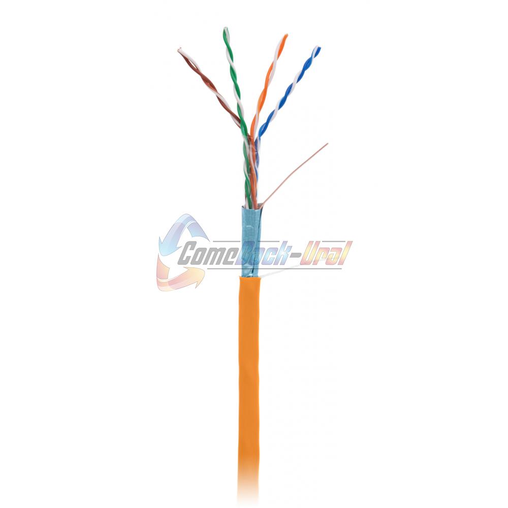 Кабель FTP 4PR 24AWG CAT5e 305м, LSZH нг(В)-HF, оранжевый NETLAN
