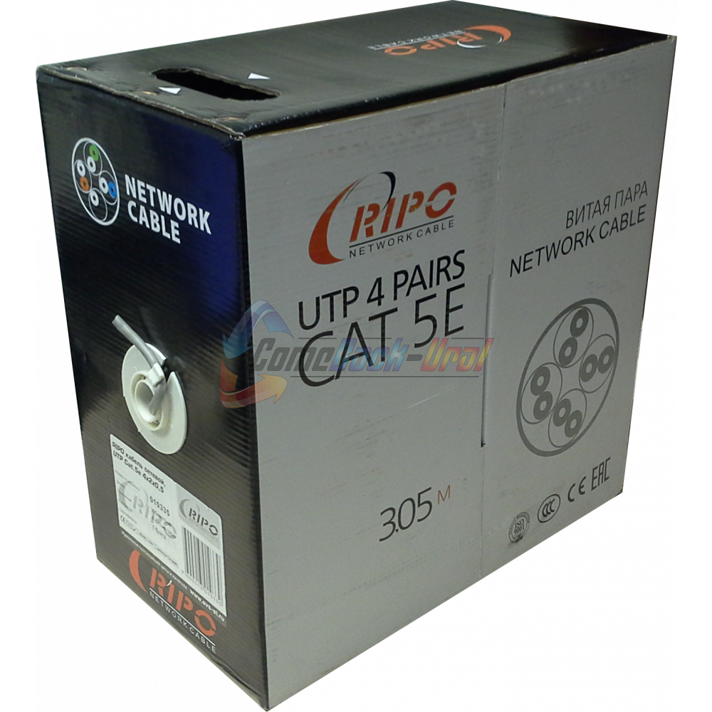 Кабель UTP 4PR 24AWG CAT5e OUTDOOR, 305м CCA Ripo