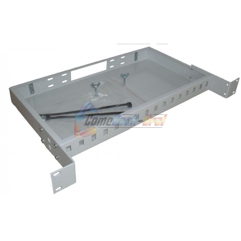 Кросс стоечный (КРС) ШКО-С-1U-16SC/LC duplex (сплош. пан.)
