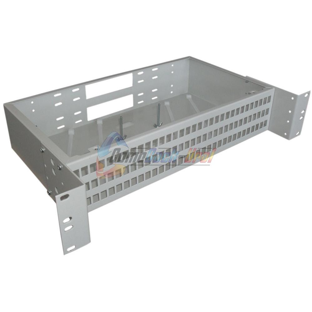 Кросс стоечный (КРС) ШКО-С-2U-96SC/LC duplex (сплош. пан.)