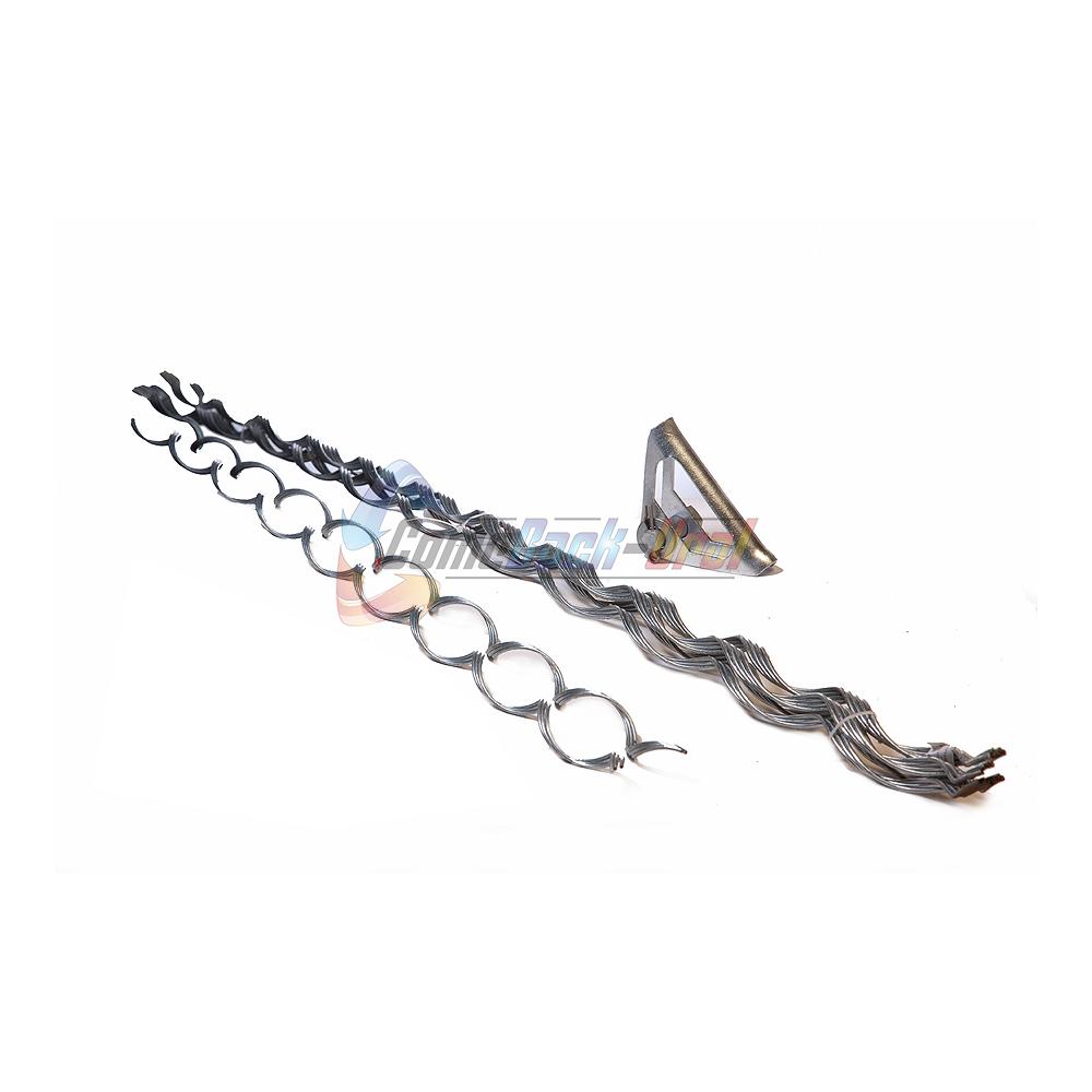 Зажим поддерживающий спиральный (коуш лодочка), с протектором, для пролетов до 500 метров ПСО-500-14,2/15,6 П-Л