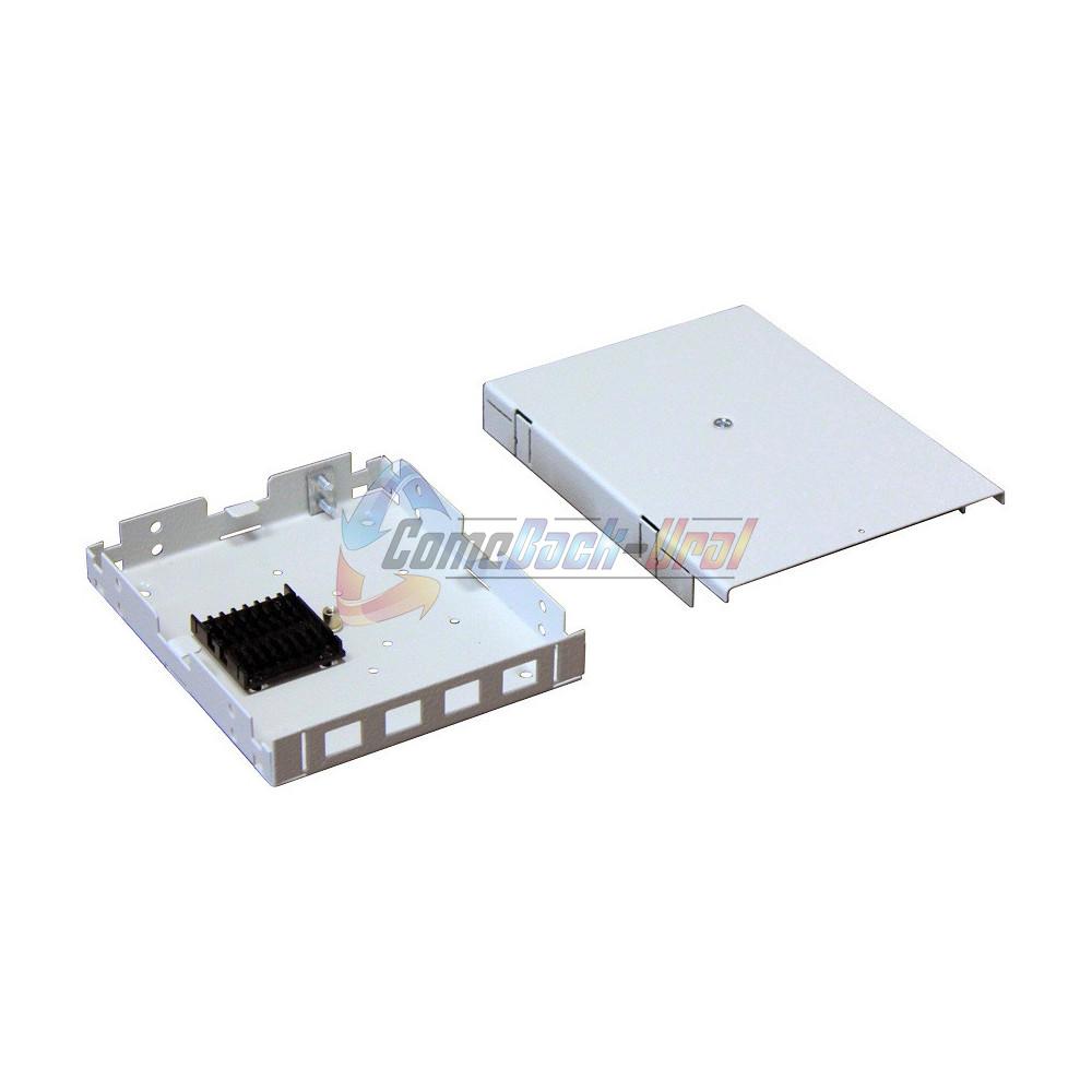 Кросс настенный (КРН) ШКО-НМк-4 SC/LC duplex (с ложементом, сплошная панель)