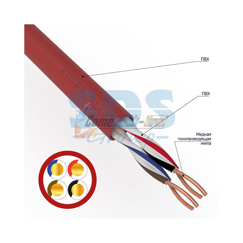 Кабель КПСВВнг(А)-LS 2х2х0,75 мм², 200м, REXANT