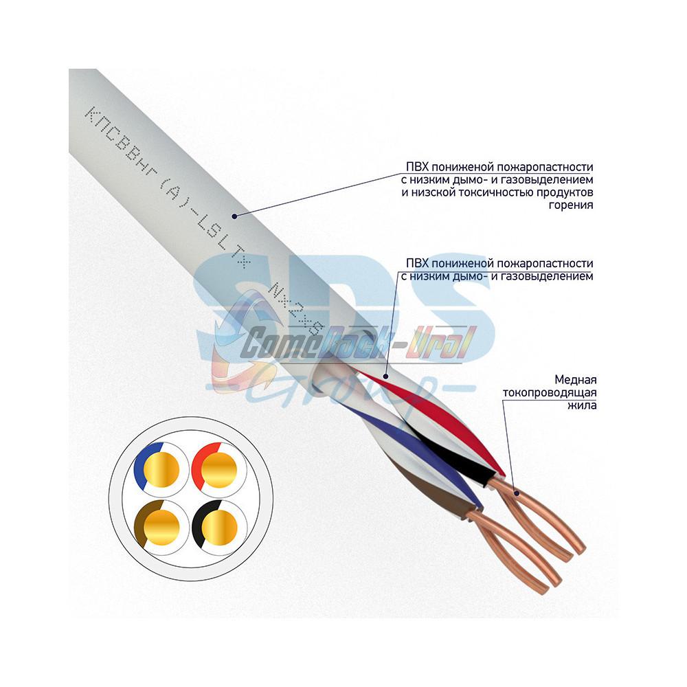 Кабель КПСВВнг(А)-LSLTx2x2x0,75 мм², 200м, REXANT