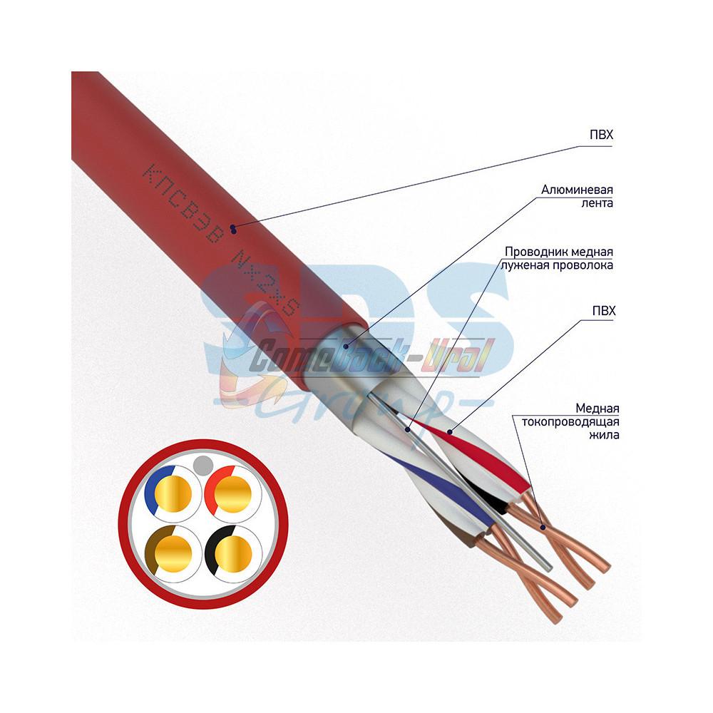 Кабель КПСВЭВнг(А)-LS 2х2х0,50 мм², 200м, REXANT
