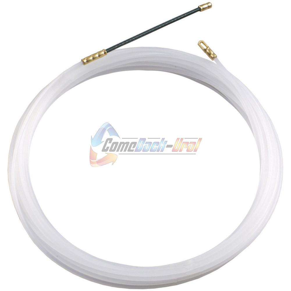Протяжка кабельная (мини УЗК в бухте), 10м, нейлон, d=3мм, латунный наконечник, заглушка.