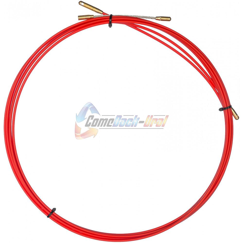 Протяжка кабельная (мини УЗК в бухте), стеклопруток, d=3,5мм, 50м КРАСНАЯ