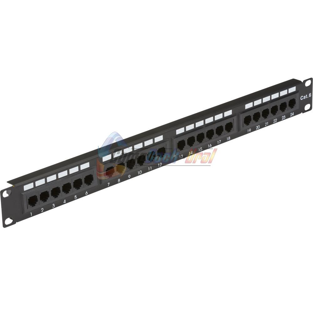 """Патч-Панель 19"""" 24 порта RJ-45 UTP Cat.6 1U с органайзером"""