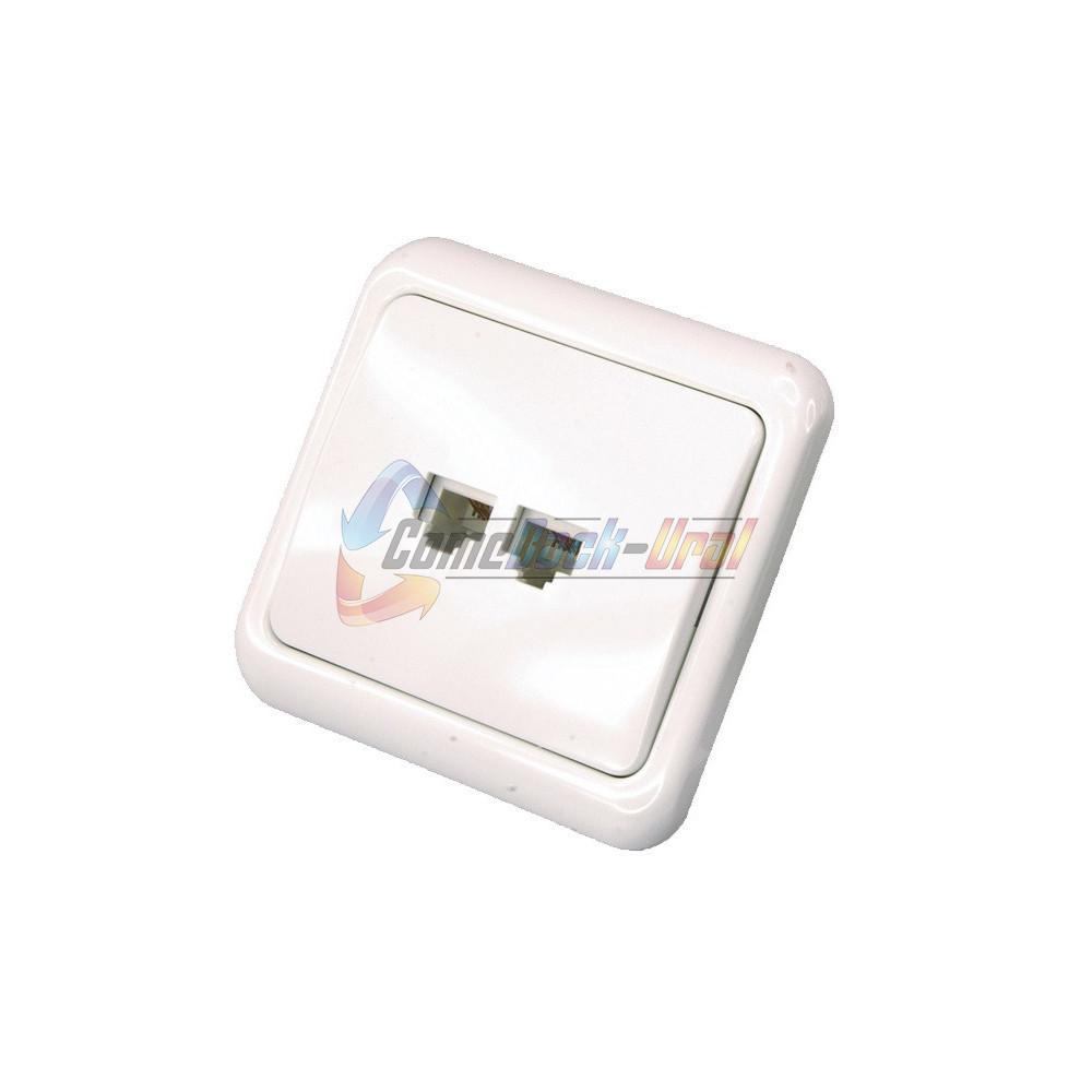 Телефонная розетка - 2 6P-4C внутренняя REXANT