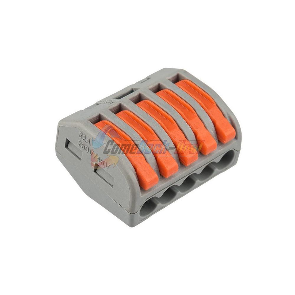 Универсальная клемма 5-проводная, серая (0,08-2,5/4 мм²) (40 шт./уп.) REXANT