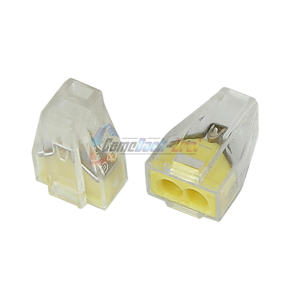 Экcпресс-клемма, 2-проводная до 2,5 мм², прозрачная (100 шт./уп.) (773-322) REXANT