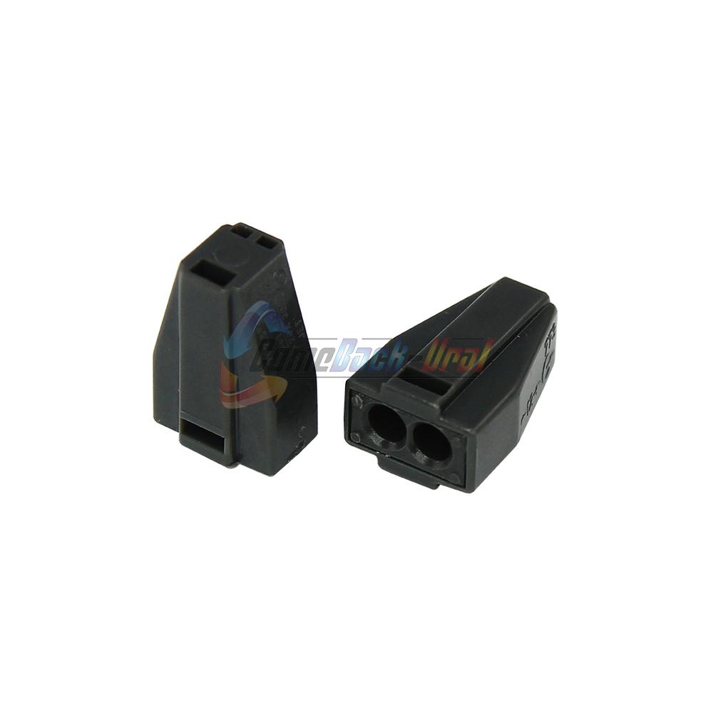 Экспресс-клемма с пастой, 2-проводная до 2,5 мм², серая (100 шт./уп.) (773-302) REXANT