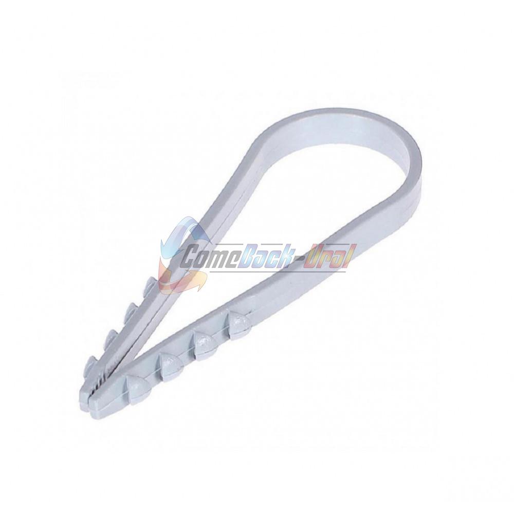 Дюбель-хомут нейлоновый PROconnect 5-10 мм, серый, упаковка 100 шт.