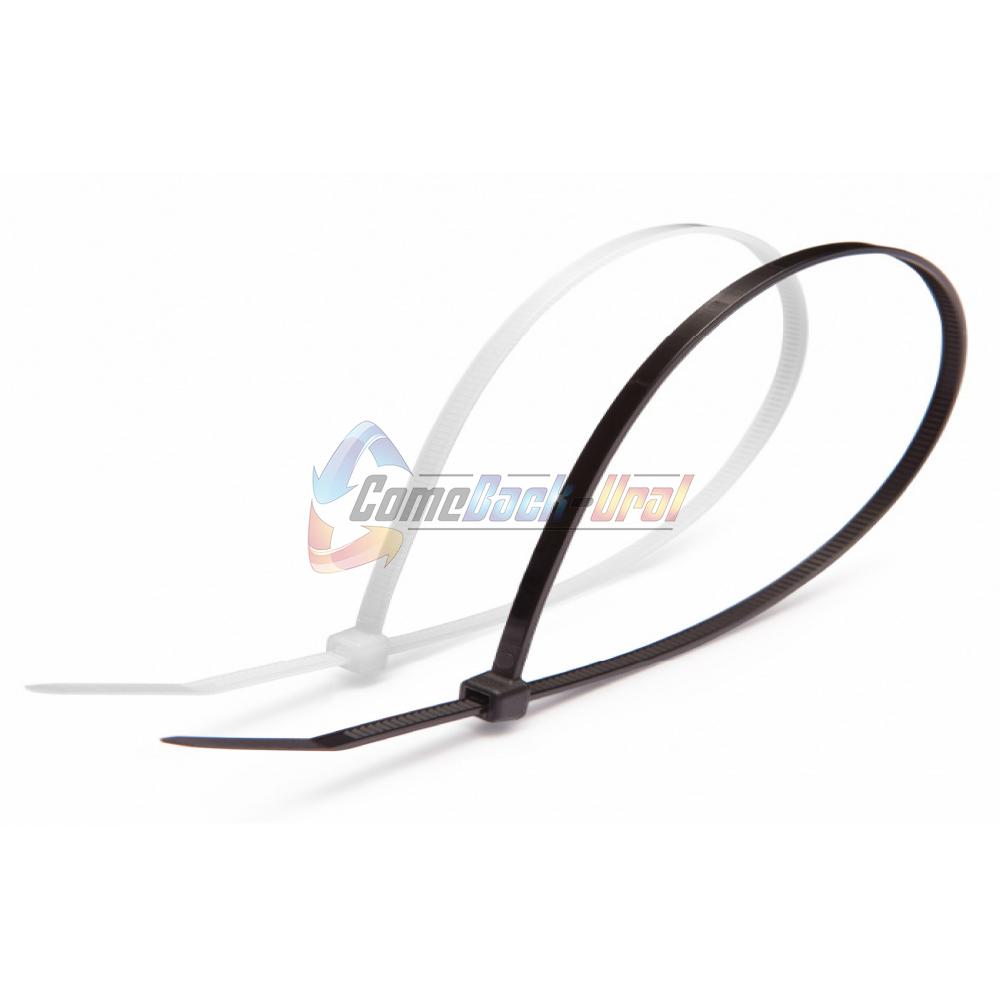 Хомут-стяжка кабельная нейлоновая REXANT 200 x7,6 мм, черная, упаковка 100 шт.