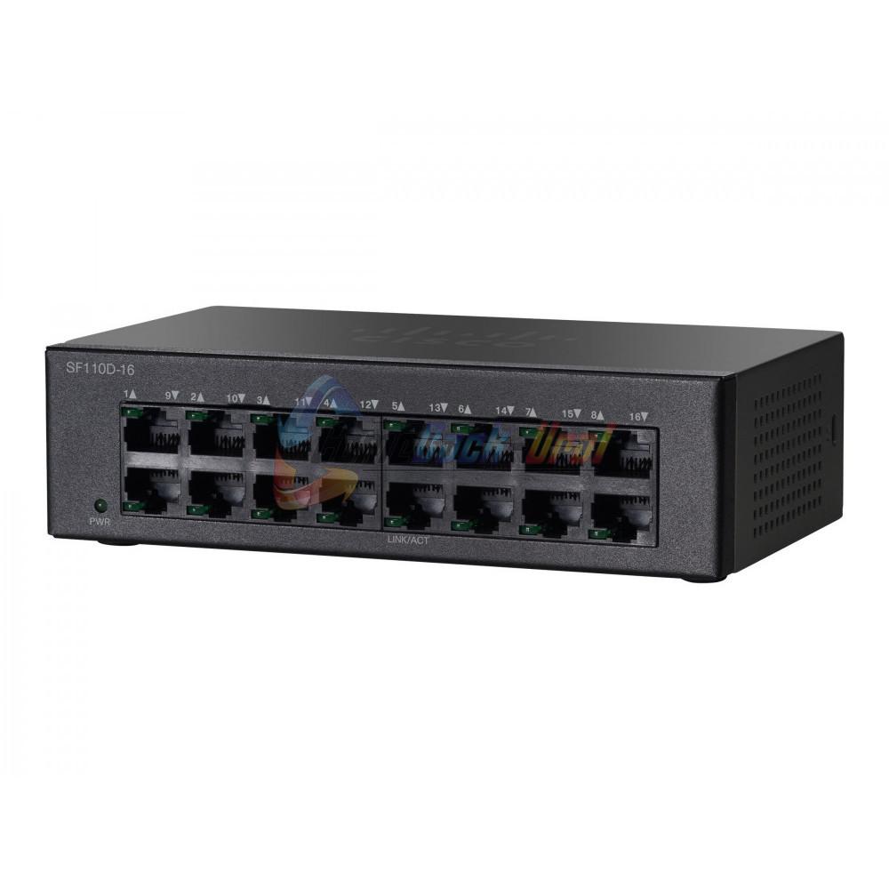 SF110D-16-EU Коммутатор 16-портовый SF110D-16 16-Port 10/100 Desktop Switch