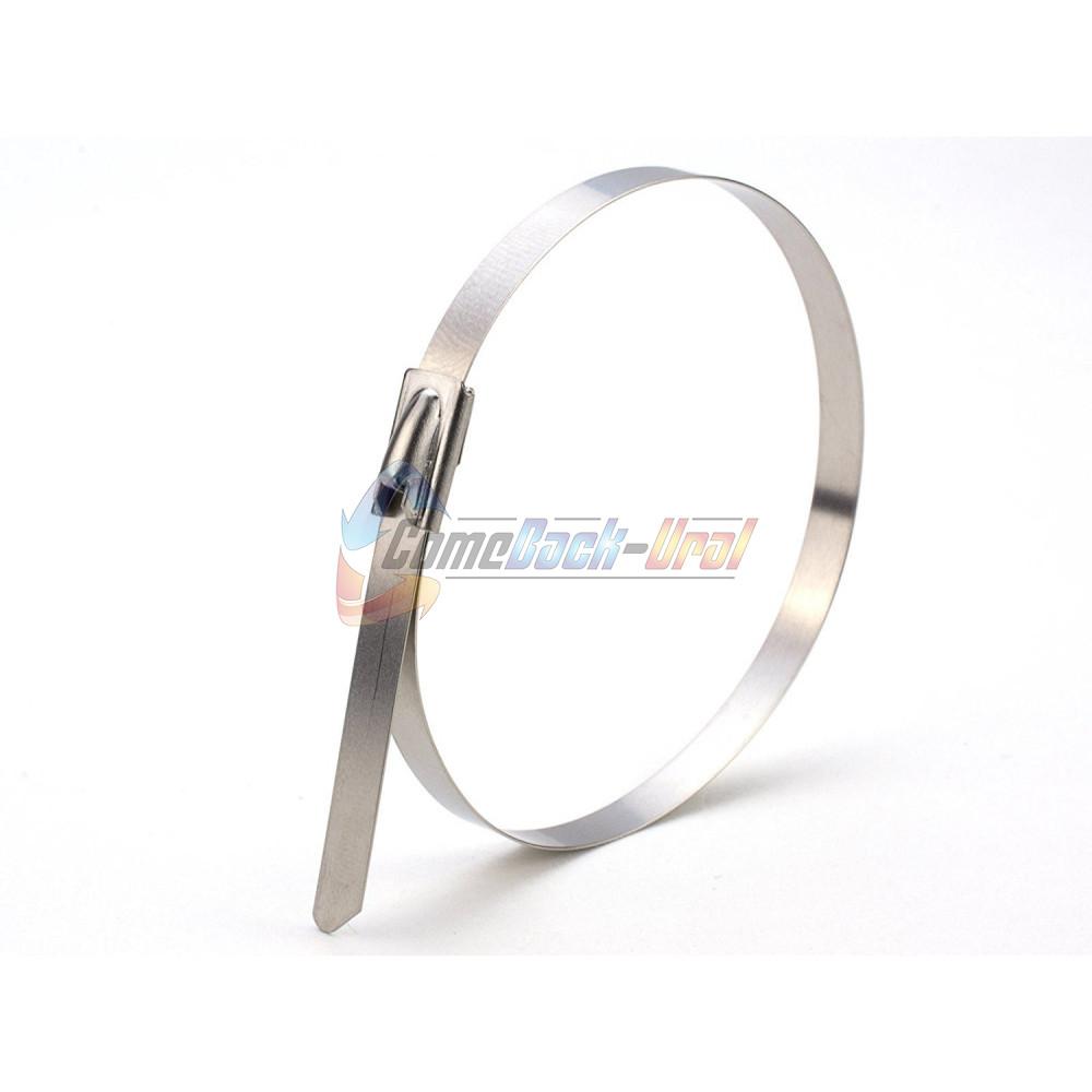 Хомут-стяжка стальная REXANT 400x7,9 мм, упаковка 50 шт.