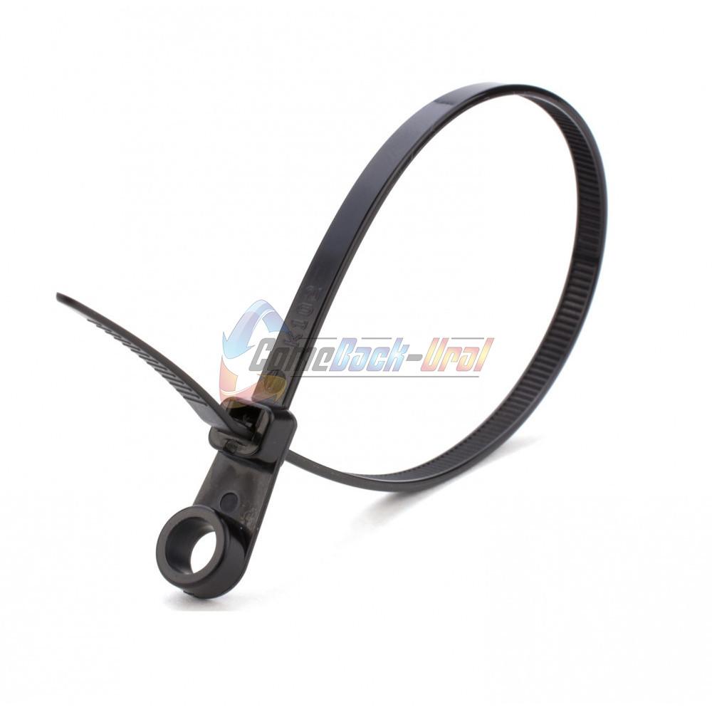 Хомут-стяжкa нейлоновая под винт REXANT 220x4,3 мм, черная, упаковка 100 шт.